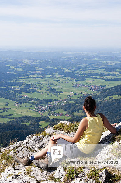 Mid adult woman looking from Breitenstein