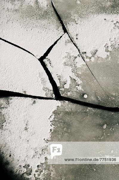 Zerbrochene Eisplatten