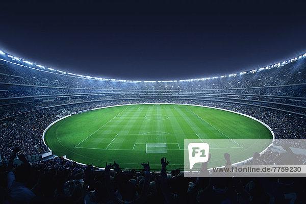 Stadion  Menschenmenge  Football  voll