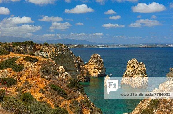 Ponta da Piedade  Lagos  Algarve  Portugal  Europa