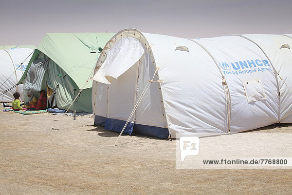 UNHCR refugee camp for refugees of the Libyan civil war