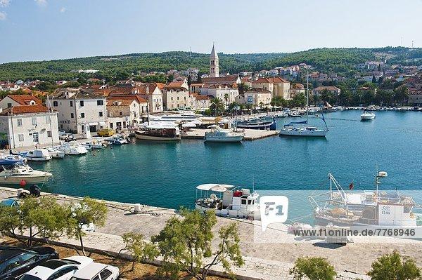 Supetar Harbour  Brac Island  Dalmatian Coast  Adriatic  Croatia  Europe