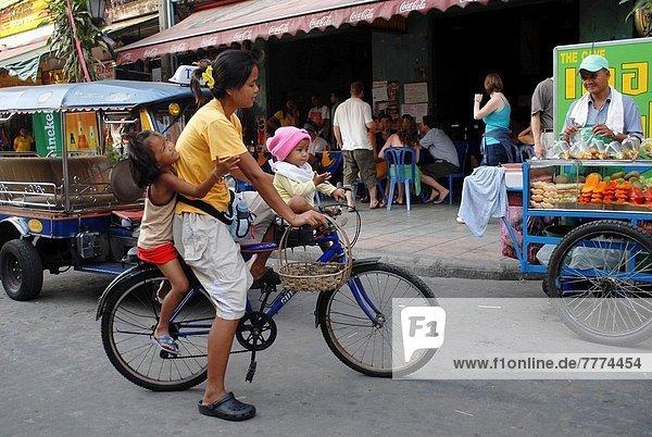 Reise  2  jung  Fahrrad  Rad  Mutter - Mensch