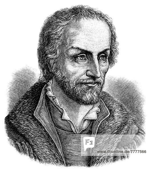 Historic illustration from the 19th century  portrait of Philipp Melanchthon or Philipp Schwartzerdt  1497 - 1560
