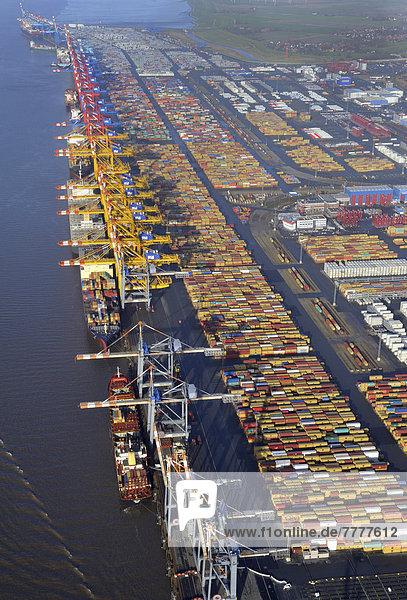 Luftbild  Containerhafen Bremerhaven