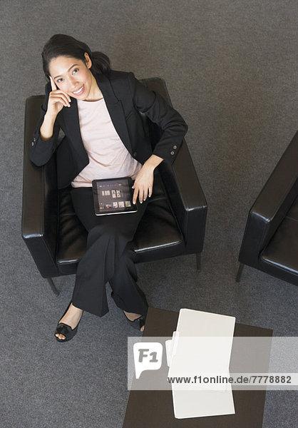 Portrait  Geschäftsfrau  über