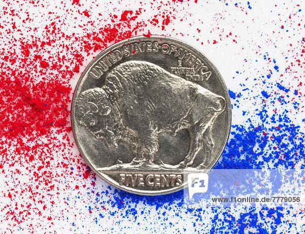 Dollar  schießen  Studioaufnahme  Geldmünze