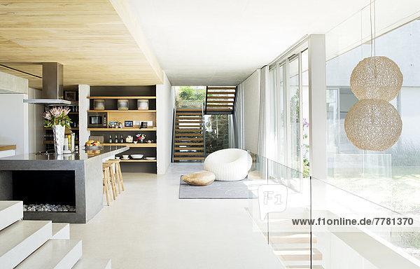 Fußboden Modern ~ Offener grundriss eines modernen hauses  caia image