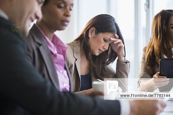 Geschäftsfrau  Produktion  Besuch  Treffen  trifft