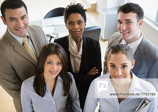Zusammenhalt  Mensch  Büro  Menschen  lächeln  Business
