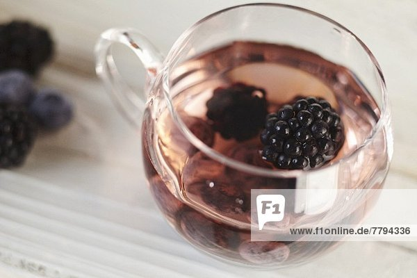 A Glass Cup of Berry Punch
