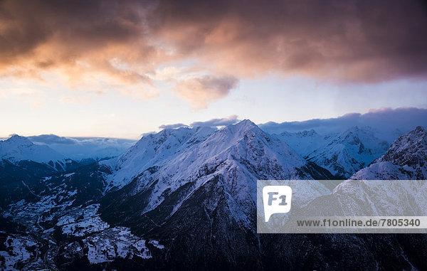 Alpenpanorama vom Venet nach Westen zum Arlberg