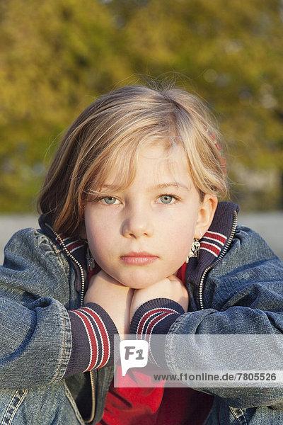Girl  8 years  portrait