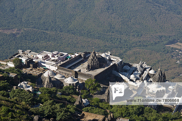 Temple on the holy mountain of Girnar  important pilgrimage site for the followers of Jainism
