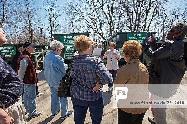 Troy  Michigan - An Earth Day tour of the recycling facilities at the Southeastern Oakland County Resource Recovery Authority. The Authority collects recyclable materials from homes in 12 suburban Detroit communities.