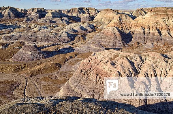 Gesteinsformationen der Blue Mesa