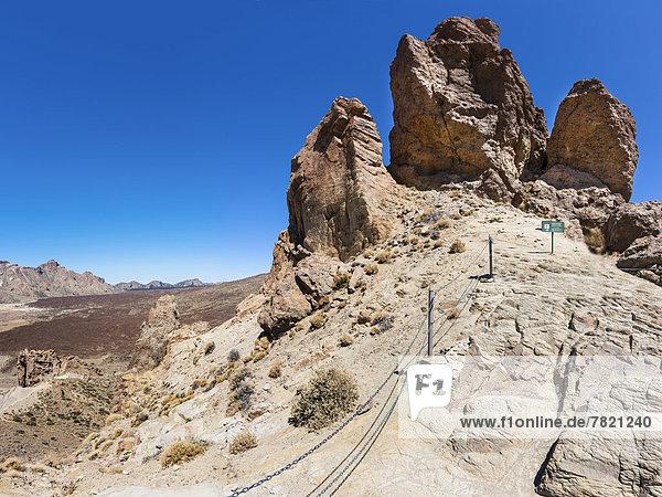 Roques de Garcia  Felsformationen aus Lavagestein  Parque Nacional de las Cañadas del Teide  Teide-Nationalpark  UNESCO Weltnaturerbe