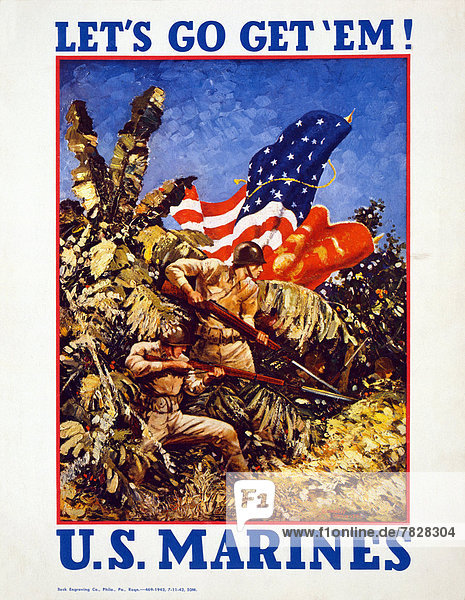 Vereinigte Staaten von Amerika  USA  Produktion  Waffe  Werbung  Soldat  Poster  Krieg  amerikanisch  Angebot  Zweiter Weltkrieg  II.
