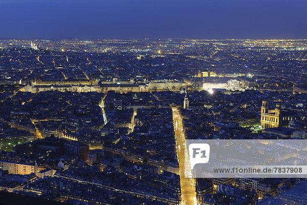 Stadtansicht Stadtansichten Paris Hauptstadt Nacht