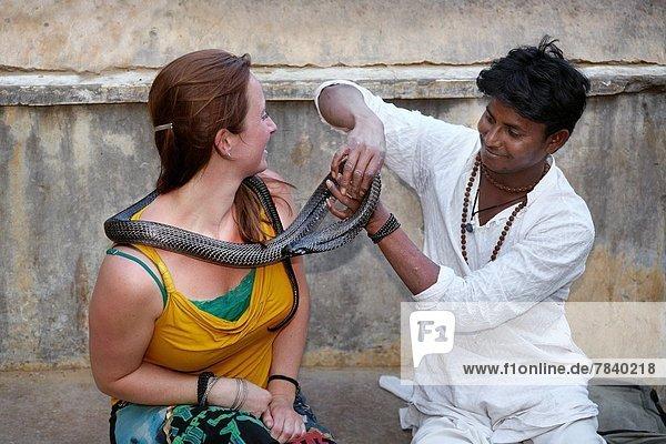 Mut  Tourist  Kobra  Indien  Rajasthan