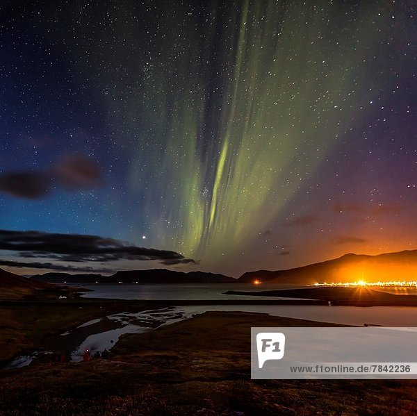 über  Polarlicht  Snaefellsnes  Aurora  Grundarfjordur  Island