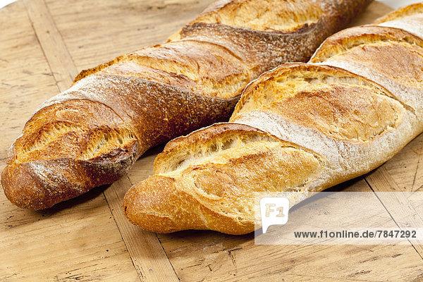 Baguette breads  close up