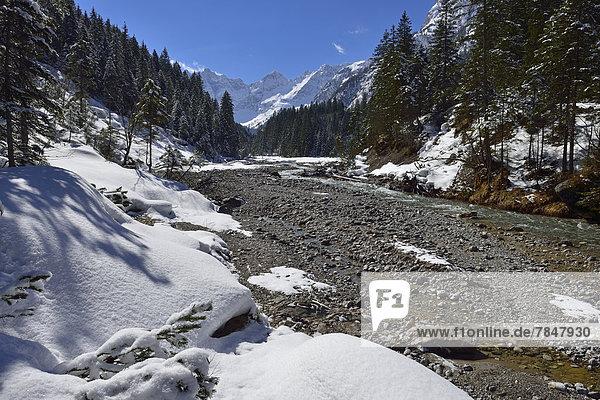 Austria  Tyrol  Karwendel Mountains in snow