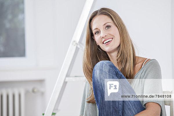 Porträt einer Frau  lächelnd