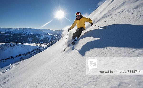 Österreich  Salzburg  Skifahren im Altenmarkt Zauchensee