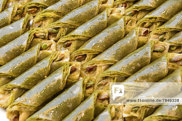 Türkei  Istanbul  türkische Köstlichkeiten  Nahaufnahme