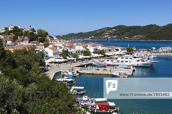 Harbour  Skiathos Town  Skiathos Island  Sporades Islands  Greek Islands  Greece  Europe