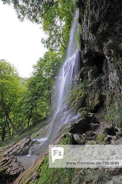Wasserfall  Bad Urach  Baden-Württemberg  Deutschland