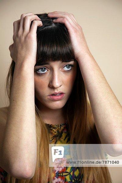Jugendlicher  Sorge  Depression  halten