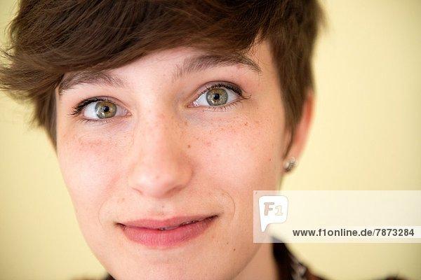 Portrait  braunhaarig  Student  jung  Studioaufnahme  Niederlande  Philosophie  Tilburg  Universität