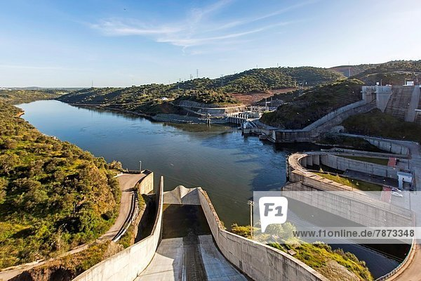 Alqueva Dam  Alentejo  Portugal  Europe.
