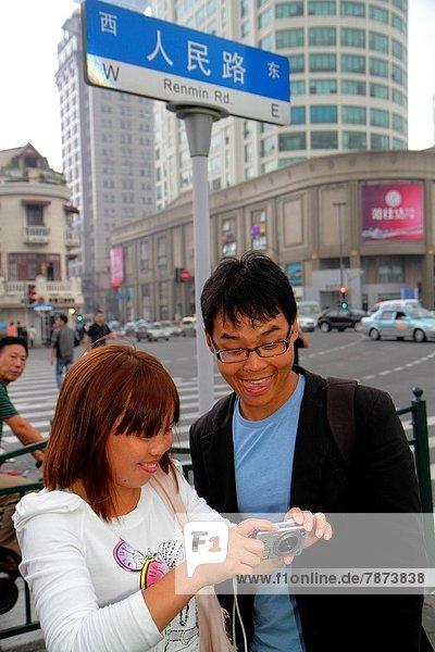 Frau  Mann  China  Shanghai