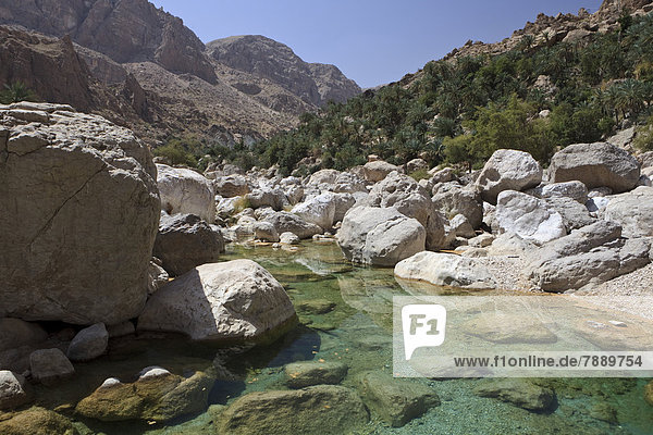 Klares Wasser des Wadi Shab