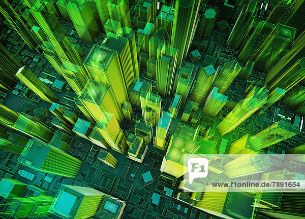 Gebäude grün Hochhaus Ansicht Virtuelle Realität Virtual Reality cyberspace Luftbild Fernsehantenne Gebäude,grün,Hochhaus,Ansicht,Virtuelle Realität,Virtual Reality,cyberspace,Luftbild,Fernsehantenne