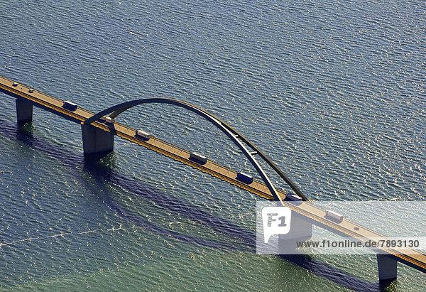 Luftbild  Fehmarnsundbrücke
