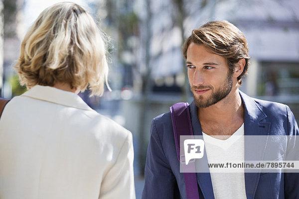Man flirting a woman