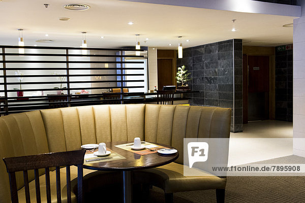 Dining booth in a restaurant