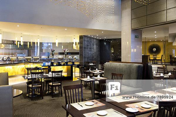 Interiors of a restaurant