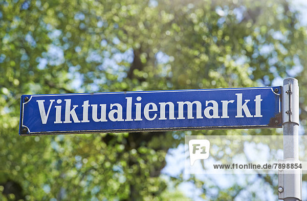 Altes Straßenschild Viktualienmarkt Altes Straßenschild Viktualienmarkt