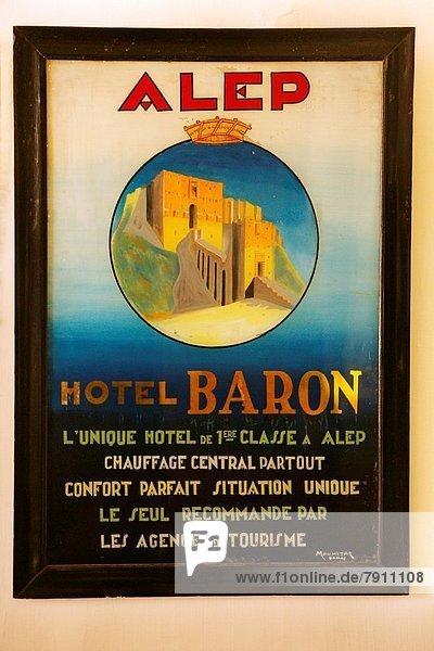 Hotel  Poster  Aleppo  Syrien Hotel ,Poster ,Aleppo ,Syrien