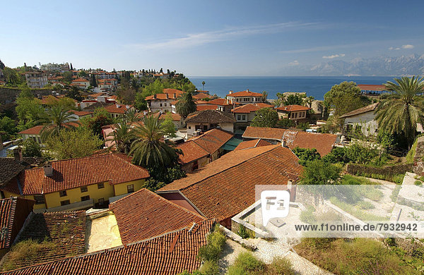 Overlooking the historic centre of Antalya