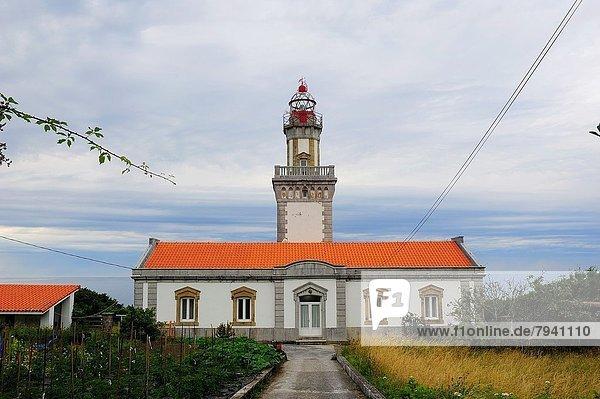 Higuer Cape Lighthouse. Hondarribia - Fuenterrabia. Guipuzcoa  Spain.