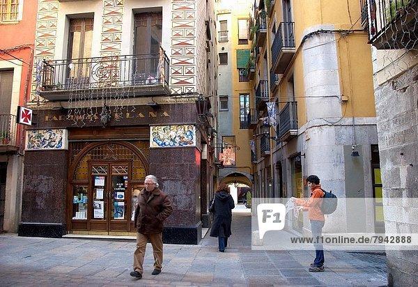 Stadt Katalonien Girona alt Spanien