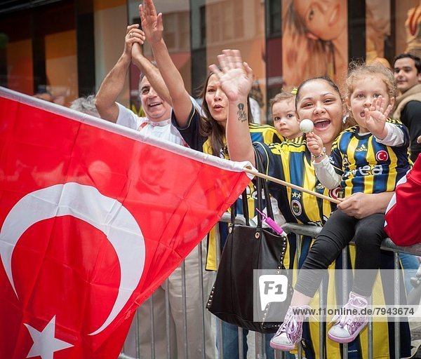 Thousands of Turks take to the streets of Manhattan for the Turkish-American Day Parade. People of Turkish extraction  immigrants from Turkey and their American born children marched down Madison Ave. in colorful costumes and waving flags in a display of their cultural heritage.
