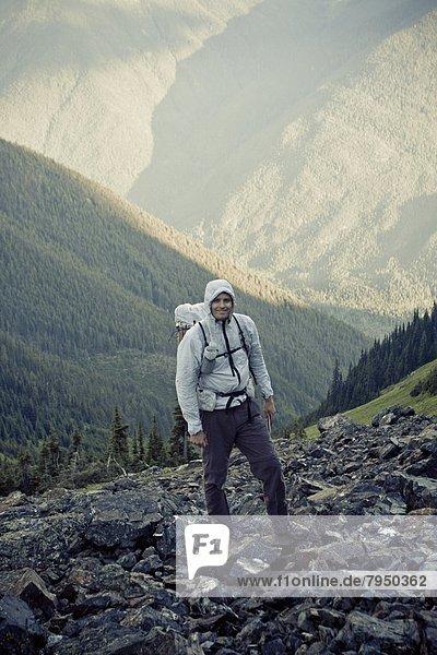 Berg  wandern  Grizzlybär  ursus horibilis  Grizzly