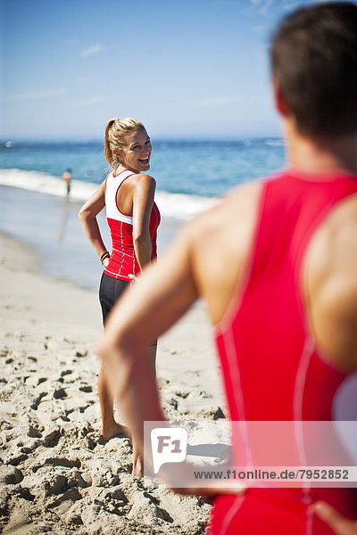 Wasserrand  Athlet  Meer  Triathlon